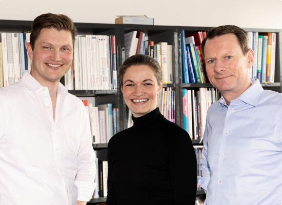 Insa, Bastian und Lars – das ist der Zusammenschluss zweier inhabergeführten Hamburger Unternehmen